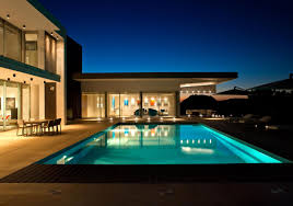 pool house designs plans lighting balcony modern contemporary villa house design with