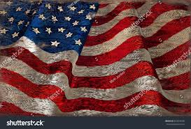 How To Paint American Flag Rustic Weathered American Flag Painted On Stock Illustration
