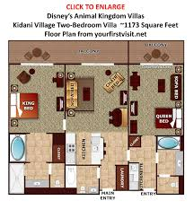 the disney vacation club disney kidani village two bedroom villa floor plan from yourfirstvisit
