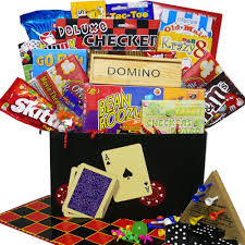 family gift basket ideas and care package gourmet candy gifts