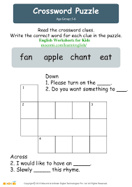 crossword puzzle u2013 english worksheets for kids u2013 mocomi com