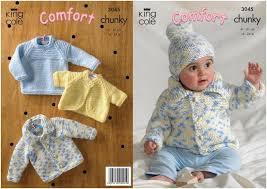 knitting pattern baby sweater chunky yarn king cole baby sweater jacket bolero hat knitting pattern 3045