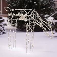 time 40 animated feeding doe light sculpture