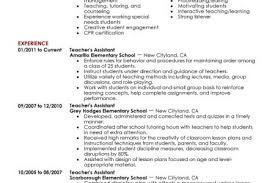Teaching Assistant Resume Sample by Child Caretaker Cover Letter