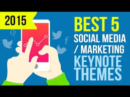5 best keynote presentation themes templates for social media and