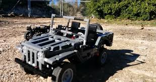 jeep motor lego jeep willys with electric motor does actual offroading