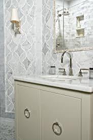 Carrara Marble Hexagon Tile Transitional Bathroom Farinelli - Hexagon tile backsplash