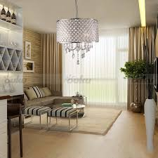 Drum Shade Chandelier Lighting Drum Shade Crystal Ceiling Chandelier Pendant Light Fixture