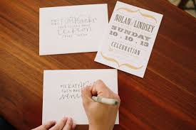 Single Card Wedding Invitations Diy Wedding Envelope Addressing Tips Julep