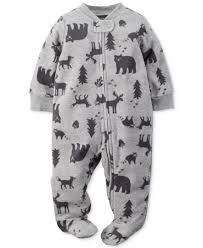 s baby boys wildlife footed pajamas baby stuff