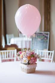 baptism centerpieces glenwood weber design s floral hot air balloon centerpiece party