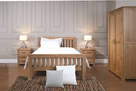 Grey Walls Wood Floor by Bedroom Furnished With Solid Oak Furniture And Grey Walls