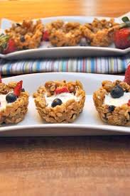 ideas for a brunch granola cups with yogurt and berries easter brunch idea