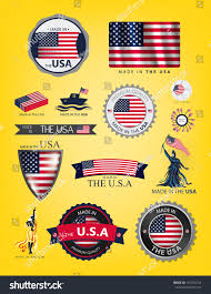 Flags Made In Usa Made Usa Seals Flags Vector Stock Vector 151216154 Shutterstock