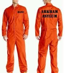prison jumpsuit costume bane arkham asylum orange prison jumpsuit