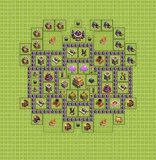 layout coc town hall level 7 trophy defense base plan layout design th 7 clash of clans