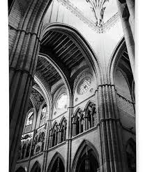Cathedral Interior Black And White Almudena Cathedral Interior In Madrid Spain