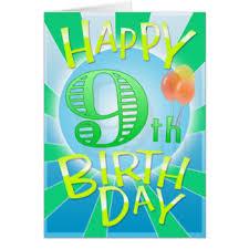 happy 9th birthday cards greeting u0026 photo cards zazzle