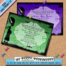 halloween baby shower invitations bride of frankenstine