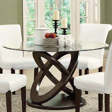 Round Glass Table And Chairs Shop Monarch Specialties Tempered Glass Round Dining Table At