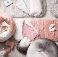 kashmir faux fur bean bag grey