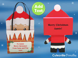 cutezville printables printable father christmas unique gift box