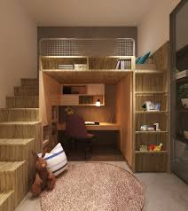 singapore loft bed kids contemporary with built in shelves