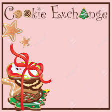 invitation for a cookie exchange party royalty free cliparts