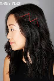 bob hairstyle with part down the middle 21 bobby pin hairstyles you can do in minutes
