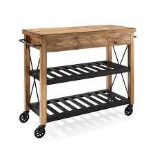 Crosley Steel Kitchen Cabinets Roots Rack Natural Industrial Kitchen Cart Crosley Furniture