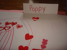 preschool lined writing paper writing motivators for preschoolers folding an index card horizontally makes a great word card my son loved writing his grandfather s name on a valentine card he made
