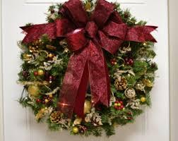 pre lit wreath etsy
