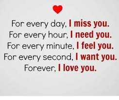 I Need You Meme - for every day i miss you for every hour l need you for every