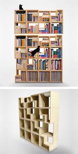 awesome bookshelf designs cat friendly bookcase awesome bookshelf