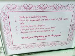 guest book sign in wedding guest book plate atdisability