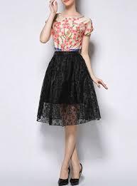 women s skirts midi skirt black airy free flowing
