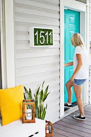 Diy House Modern House Number Diy U2013 A Beautiful Mess