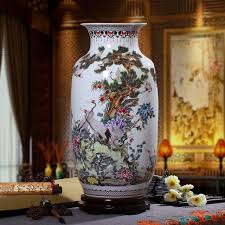 guci jingdezhen vase ceramic ornaments special large pink