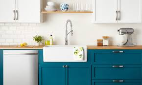 top cabinets different color than bottom 9 amazingly easy diy kitchen remodel ideas rude realty
