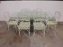 Bamboo Patio Set by Hollywood Regency Style Faux Bamboo Patio Set At 1stdibs
