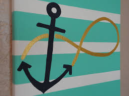 hand painted infinity anchor canvas hebrews 6 19 8x10 infinity