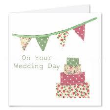 Wedding Day Card Fabric Bunting Wedding Day