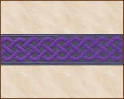 ribbon fabric knotwork medium 13 16 inch purple black jacquard ribbon