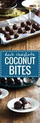 dark chocolate coconut bites recipe pinch of yum