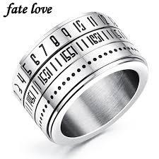 mens metal rings images Free to rotate mens stainless steel rings jewellery number design jpg