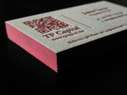 Business Card With Qr Code Letterpress Business Cards With Qr Code And Edge Paint