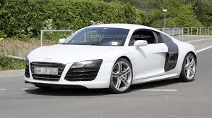 Audi R8 White - audi r8 facelift spied undisguised in white