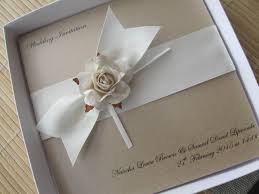 wedding invitations handmade vintage wedding invitations mink ivory boxed