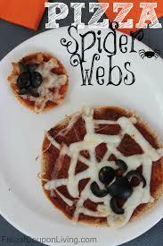 halloween pizza spider webs kids food craft
