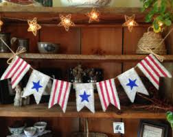 4th Of July Bunting Decorations Patriotic Bunting Etsy